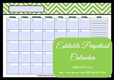 Editable Calander Editable Printable Calendar Perpetual Calendar Chevron