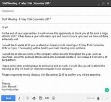 Sample Invitation For A Meeting By Email Invitation Letter Examples And Templates For Business