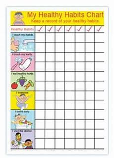 Good Eating Habits Chart Healthy Habits For Healthy Kids Chart Charts Classroom