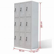 metal locker cabinet 9 doors gray vidaxl