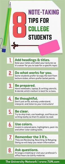 College Life Tips 8 Note Taking Tips For College Students College Life