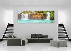 tropical island waterfall panoramic picture canvas print