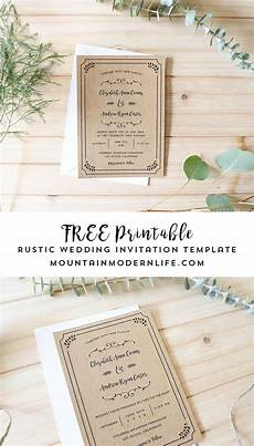 Invitation Free Download Free Printable Wedding Invitation Template Free