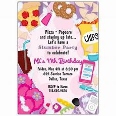 Girl Slumber Party Invitations Slumber Party Invitations Paperstyle