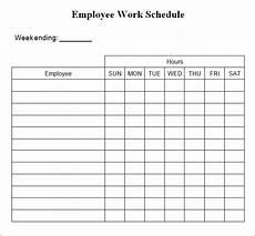 Free Weekly Schedule Template Weekly Work Schedule Template 4 Free Word Excel