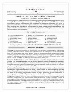 Statistics Major Resume Management Graduate Resume