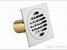 Drainer Square Shower Floor Drain with Removable Strainer Tile In Design Shallow Chrome 4x4 Inch