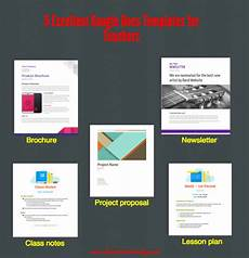 Google Docs Portfolio Template 5 Excellent Google Docs Templates For Teachers