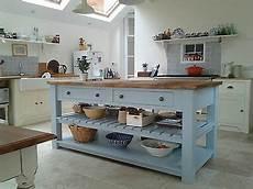 freestanding kitchen island unit handmade 4 drawer kitchen island unit freestanding