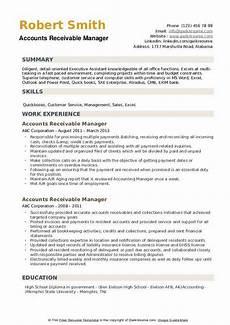 Accounts Payable Manager Resume Accounts Receivable Manager Resume Samples Qwikresume
