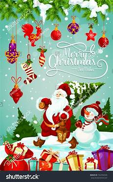 Merry Christmas Greeting Card Design Merry Christmas Greeting Card Design Santa Stock Vector
