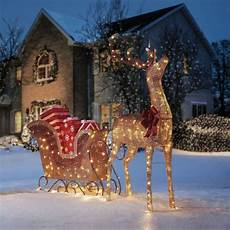 Lighted Santa Sleigh And Reindeer Outdoor Outdoor Santa Sleigh Shop Collectibles Online Daily