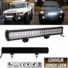 Led Light Bar For Truck Roof 20 Quot 126w Led Offroad Light Bar For Truck Utv Boat Roof