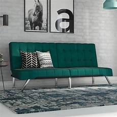 dhp emily convertible futon sofa green velvet
