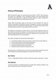 Company Profile Format In Word Free Download Free 15 Construction Company Profile Samples In Pdf Ms Word