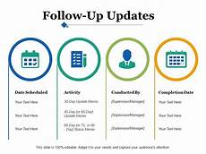 Powerpoint Update Template Follow Up Updates Ppt Infographics Graphic Tips