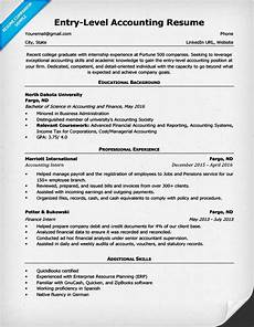 Accountant Resume Sample Entry Level Accounting Resume Sample Amp 4 Writing Tips Rc