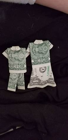 How To Fold Money Into Pants How To Fold A Dollar Into A Shirt And Pants