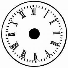 Free Printable Clocks Printable Blank Clock Face Clipart Best