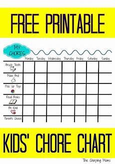 Chore Chart Kits Printable Chore Chart For Kids The Chirping