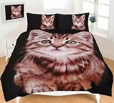 kitten duvet cover set bedding animal print 3d king
