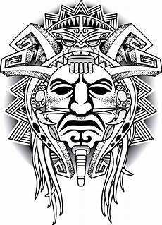 Tribal Warrior Designs Warrior Tribal Mask Vector Illustration Aztec