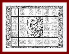 Malvorlagen Advent Calendar Coloring Advent Calendar Printable Pdf