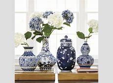 Blue & White Chinoiserie Collection   Blue, white vase
