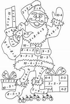 Ausmalbild Weihnachten Rechnen Ausmalbilder Klasse 1 Kinder Mathe
