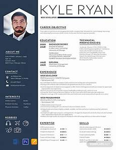 Resume Templates For Publisher Free Web Developer Resume Template Word Doc Psd
