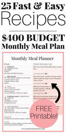 How To Meal Plan For A Month Tips To Start Meal Planning On A Budget Under 400 A Month
