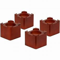 honey can do wood bed risers multicolor pack of 4