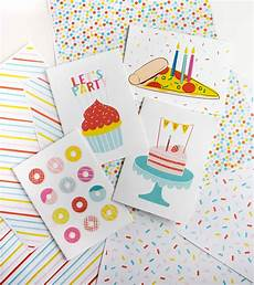 Kids Birthday Cards To Print 4 Free Birthday Cards To Print Design Eat Repeat