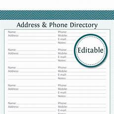 Phone Book Template Address Amp Phone Directory Editable Printable Pdf By