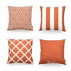 hofdeco decorative throw pillow cover geometric burnt