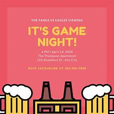 Game Night Invitation Template Customize 204 Game Night Invitation Templates Online Canva