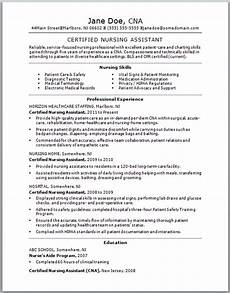 Resume For Cna Sample Sample Cna Resume