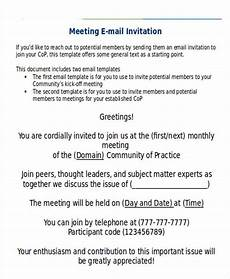 Sample Invitation For A Meeting By Email 9 Official Email Templates Free Psd Eps Ai Format