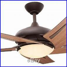Large Room Ceiling Fan Light Kit Maple Blades Indoor