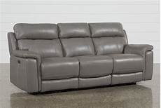 Power Reclining Sofa 3d Image dino grey leather power reclining sofa w power headrest