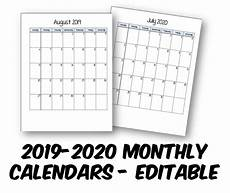 monthly planner 2020 2019 2020 student planner monthly calendars free