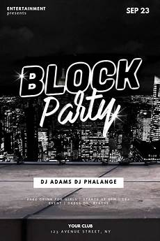 Party Flyer Size Block Party Flyer Design Template Postermywall