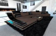 Couch Led Lights Fabric Sectional Sofa New York Cl Big Design Couch Led