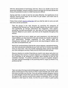 Writing An Effective Resumes Writing An Effective Resume