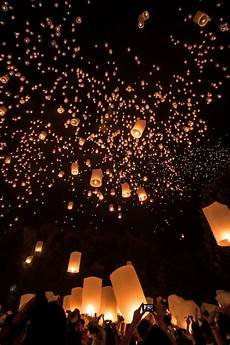 Lanterns And Lights At Chiang Mai Road Yi Penf Festival In Chiang Mai Thailand Y Travel Bucket