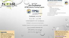401k Flyers Tpsu 401 K Fiduciary Training Program Aug 2018 Naaahr