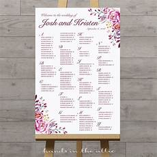 Wedding Reception Table Seating Chart Floral Wedding Seating Chart Hands In The Attic
