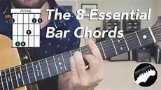 Guitar Bar Chords Chart Free The 8 Essential Bar Chord Shapes Easy Beginner Guitar