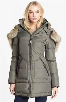 coats pajar pajar genuine rabbit coyote fur trim parka in
