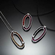 Kinzig Design Jewelry Oval Necklace By Susan Kinzig Silver Amp Stone Necklace